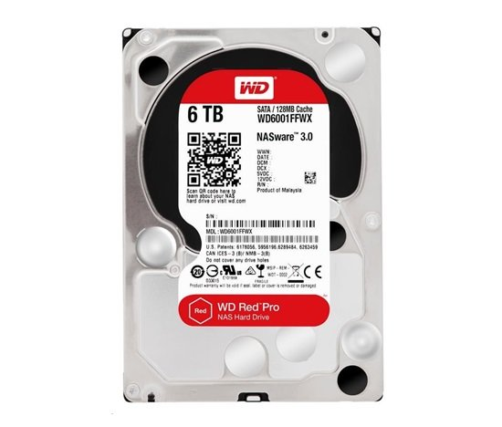 WD RED Pro NAS WD6003FFBX 6TB SATAIII/600 256MB cache